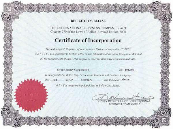 Certificato registro imprese uk